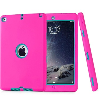 Shockproof Silicone Case for iPad Pro 9.7/iPad 6/Air 2 Kids SafeArmor Heavy Duty Rubber Hard Back Cover For iPad Air 2 Retina KidsBaby Safe Armor Shockproof Heavy Duty Silicone Hard ProtectiveShell Skin - intl