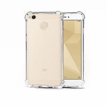Shockproof Silicone Clear Case For Redmi 4X (Clear)