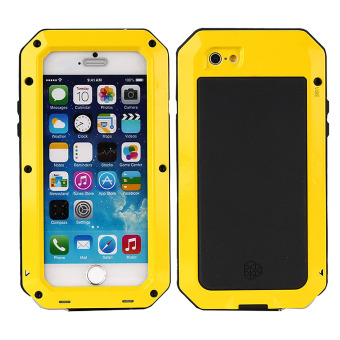 Shockproof Water-Resistant Carrying Case with Touch ID Recognition for iPhone 6/6s (Yellow)