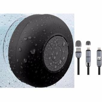 Shower Bluetooth Speaker (Black) with USB CORD Color May Vary Price Philippines