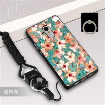 Silica Gel Soft Phone Case for Xiaomi Redmi Note 4X with a Rope anda Ring (Multicolor) - intl Price Philippines