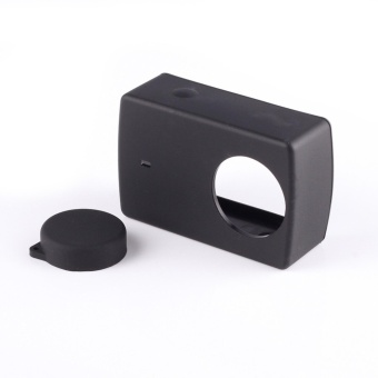 Silicon case with Lens Cap for Xiaomi Yi 4k Action Camera