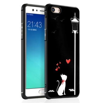 Silicon Debossed Printing Cover Case for Oppo F3 Plus - intl