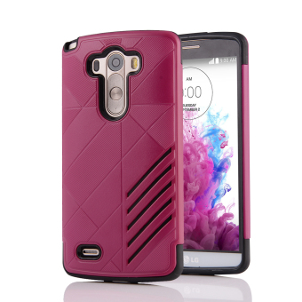 Silicon + PC Combo Case for LG G3 (Hot Pink) - Intl