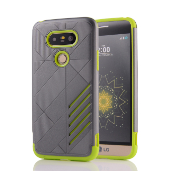 Silicon + PC Combo Case for LG G5 (Grey+Green) - Intl