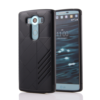 Silicon + PC Combo Case for LG V10 (Black)