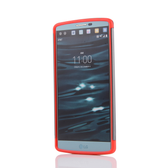 Silicon + PC Combo Case for LG V10 (Grey+Red) - 3
