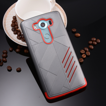Silicon + PC Combo Case for LG V10 (Grey+Red) - 4