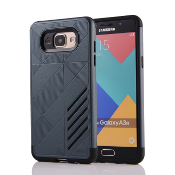 Silicon + PC Combo Case for Samsung Galaxy A3 (2016) A310 (NavyBlue) - Intl