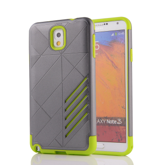 Silicon + PC Combo Case for Samsung Galaxy Note 3 N9000(Grey+Green) - Intl