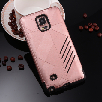 Silicon + PC Combo Case for Samsung Galaxy Note 4 N9100 (Rose Gold)- Intl - 4