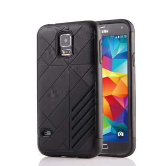 Silicon + PC Combo Case for Samsung Galaxy S5 i9600 (Black) - Intl