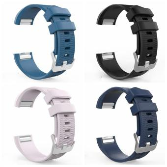 Silicone Bracelet Strap Replacement Band for Fitbit Charge 2 - DarkBlue - intl