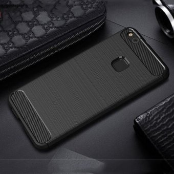 Silicone Carbon Fiber Brushed Case Soft TPU Shockproof ProtectiveArmor Cover For Huawei P10 Lite - intl