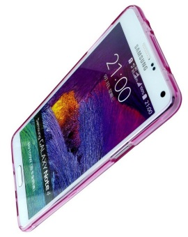 Silicone Clear Case for Samsung Galaxy Note 4 (Pink) - picture 2