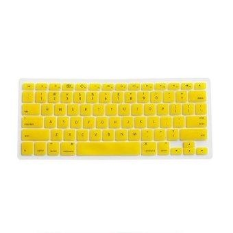 Silicone Keyboard Cover Skin for Apple Macbook Pro MAC 13 15 17 Air13 (Yellow)