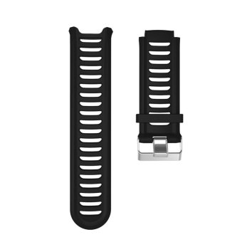 Silicone Watch Bands Strap for Garmin Forerunner 910XT GPS (Black)- intl