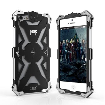 Simon Tough Armor Metal Aluminum Phone case for iphone 5 5S SE caseback Cover Luxury - intl