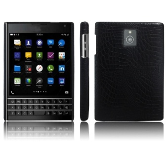 Simple Crocodile Stripe Protection Back Cover For Blackberry Passport Q30(Black)