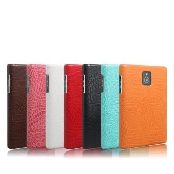 Simple Crocodile Stripe Protection Back Cover For Blackberry Passport Q30(Orange) - 2