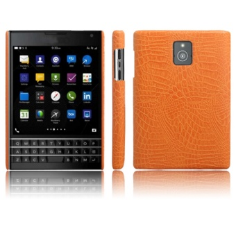 Simple Crocodile Stripe Protection Back Cover For Blackberry Passport Q30(Orange)