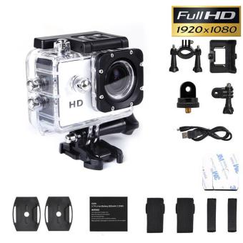 SJ4000 1080P Helmet Sports DV DV Action Waterproof Camera Camcorder White