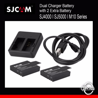 SJCAM Dual Battery Charger with Two Extra Rechargeable Battery for SJCAM SJ4000 SJ5000 Price Philippines