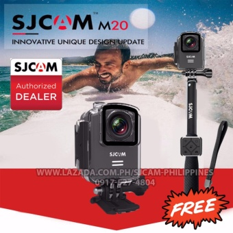 SJCAM M20 WiFi Sport Action Camera (Black) with Free Remote Controland Monopod