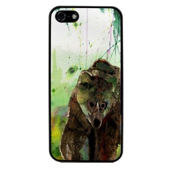 Sketch Bear Art Pattern Phone Case for iPhone 4/4S (Black) product preview, discount at cheapest price