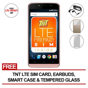 SKK Mobile Aura Flash HD 4GB with Free LTE tnt sim, Smart Case, tempered glass, earbuds
