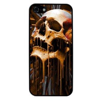 Skull Devil Diablo Pattern Phone Case for iPhone 4/4S (Black)