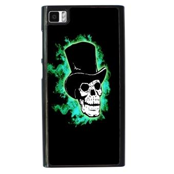 Skull Devil Diablo Pattern Phone Case for Xiaomi Mi3 (Black/Green)