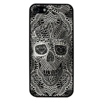 Skull Tattoo Patterned Pattern Phone Case for iPhone 4/4S (Black)