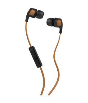 Skullcandy Iconic S2PGGY-431 In-Ear Headphones (Black/Tan)