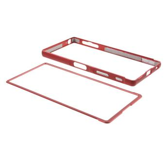 Slide-on Metal Bumper Case for Sony Xperia Z5 Premium / dual - Red - intl