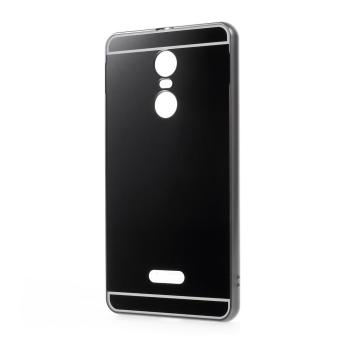 Slide-on Metal Bumper Plating PC Back Cover for Lenovo K6 Note - Black - intl