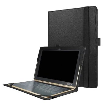 Slim-Book Stand PU Leather Case Cover for Lenovo Yoga Book 10.1 (Black) - intl