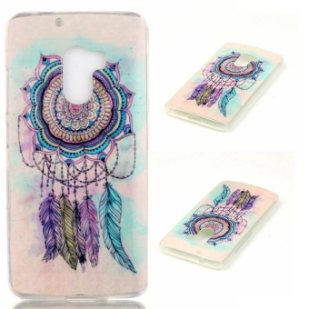 Slim Fit Soft TPU Back Case Cover For Lenovo K4 Note A7010 (Wind Chime Feather) - intl