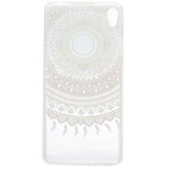 Slim Fit Transparent TPU Soft Back Case For Sony Xperia XA Ultra(Pink Flower Pattern) - intl - 2