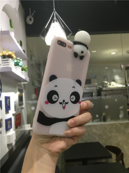 Small PANDA a37/A57/A59 stereo phone case