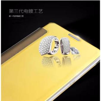 Smart Mirror Flip Case Cover For Samsung Galaxy J7 Pro (gold)