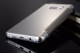 Smart sleep mirror leather case Cover for Samsung Galaxy Note 5(silver) - intl - 5