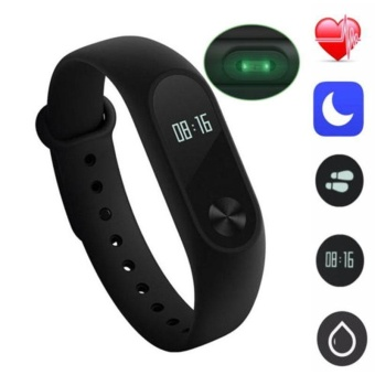 SMART Smart Watch Mi 2 Wristband Heart Rate Monitor Date Step Counter Tracker Touch - intl
