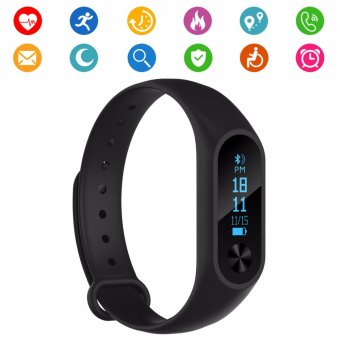 Smart Tracker Watch M2s Band IP67 Waterproof OLED Touch Screen Fitness Tracker Wristband with Heart Rate Monitor Smart Pedometer Sleep Monitor Bracelet for Android iOS phone - intl