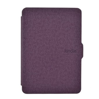 Smart Ultra Slim Magnetic Case Cover For Kindle Paperwhite+Screen film Purple - 2