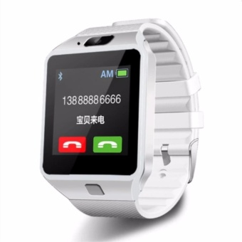 Smart Watch Bluetooth For Android and IOS With Sim Card Slot(White) DZ09