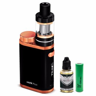Smoke iStick Pico 75W Starter Kit Vape Cigarette (Black/Bronze) with Vapeboro Premium Quality E-Juice 30ml (Flavor May Vary) & LHR Shrek 2500mAh or 2600mah INR18650 Battery
