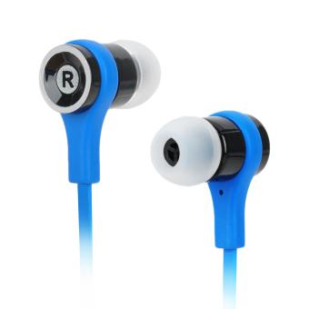 SMZ 601 Stylish Flat Earphones 3.5mm Plug (Blue/Black)