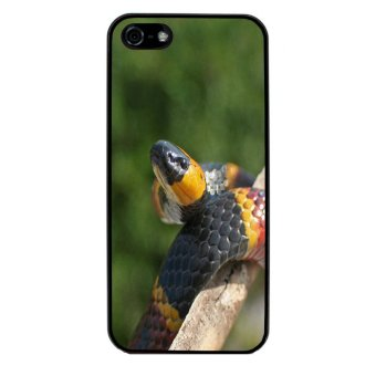Snake Print Pattern Phone Case for iPhone 4/4S (Black)