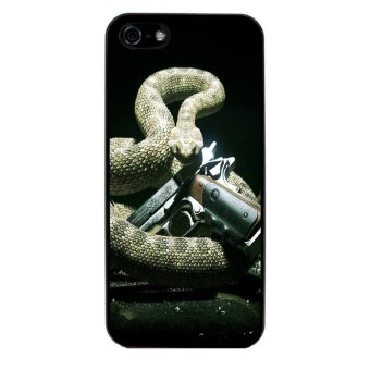 Snake Print Pattern Phone Case for iPhone 5C (Black)